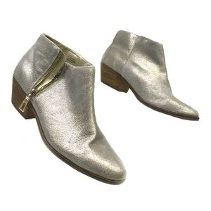 Very Volatile Silver Smith's Ankle Boots Size 7.5